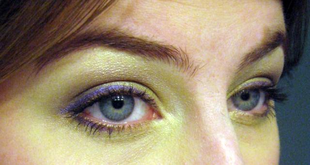 purple urban decay 24 7 eyeliner pencil ransom swatch