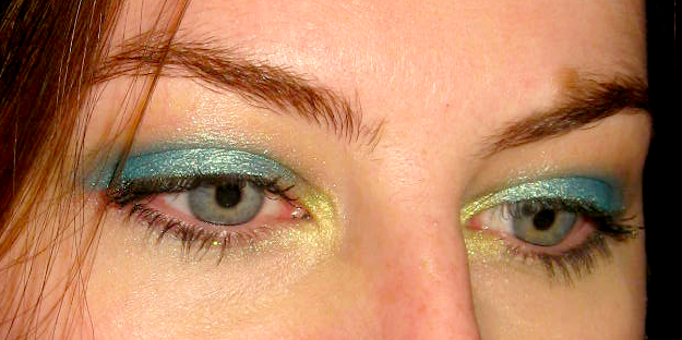 aqua eyeshadow | Lexi's Look of the Day