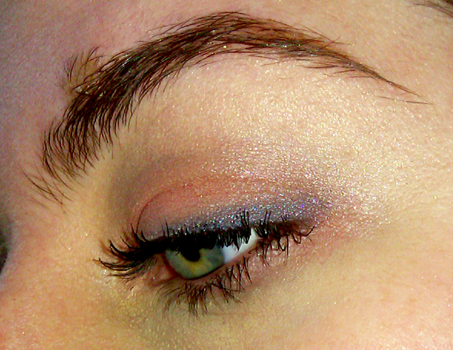 bare escentuals pink purple eyeshadow plumliner shadow