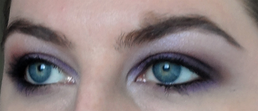 kat von d purple smoky eyeshadow