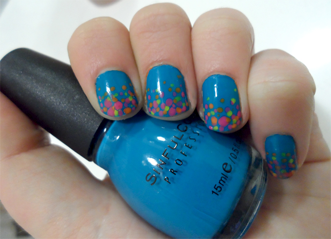 Neon Tribal Nails Cosmetic Confessional