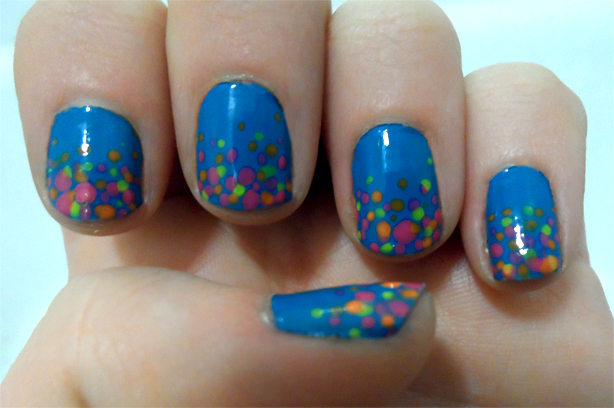 Mani Monday: Blue Sinful Colors 80's Confetti Manicure ...