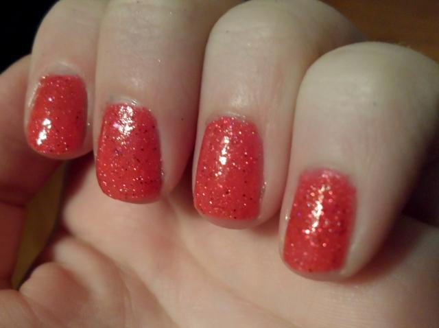 opi pink glitter jelly sandwich nail polish