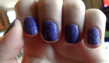opi purple matte glitter nail polish mariah carey get your number