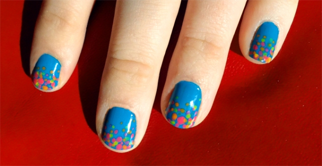 sinful colors savage nail polish crazy neon dot manicure