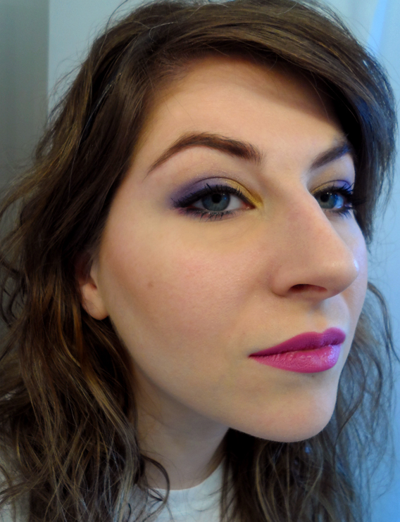 urban decay purple and gold eyeshadow