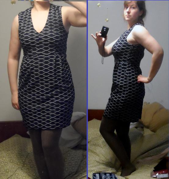 i.madeline navy fan back zipper dress