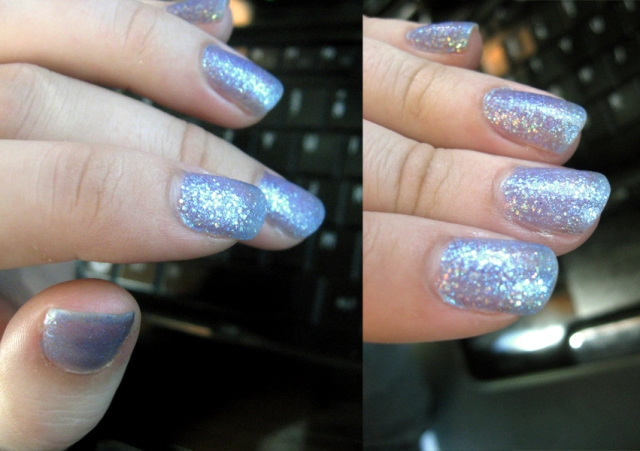 opi last friday night katy perry blue glitter nail polish swatch