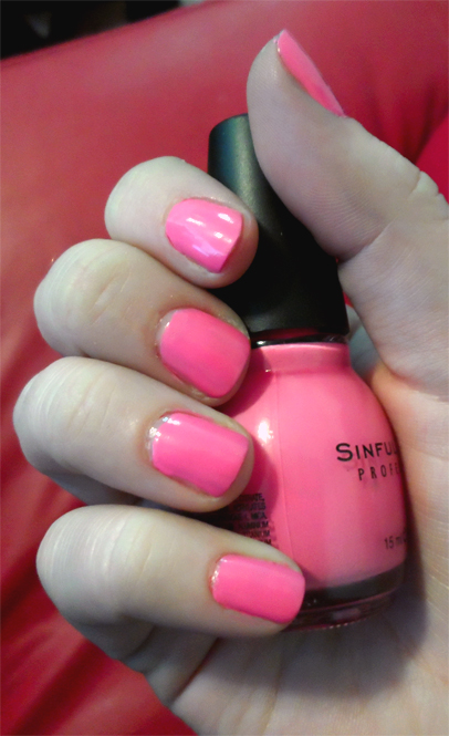 sinful colors pink forever nail polish 713 swatch
