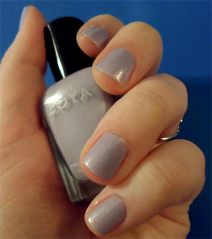zoya lavender shimmer lilac julie nail polish