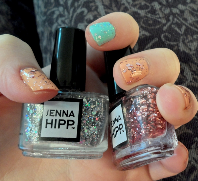 hashtag freshmaker hollywood reporter after party pink holo glitter topcoat jenna hipp nail polish