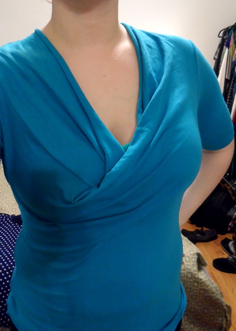 kody pintucked teal elbow sleeve turquoise top by bobi stitch fix