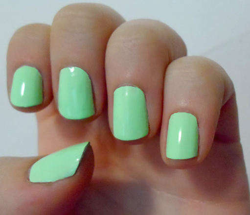 london calling pastel neon mint birchbox color club wanderlust nail polish