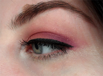 purple orange warm summer eyeshadow black eyeliner makeup