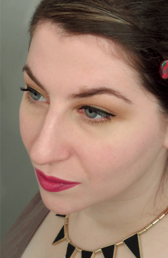 warm neutral cat eye bright fuschia plum summer lipstick