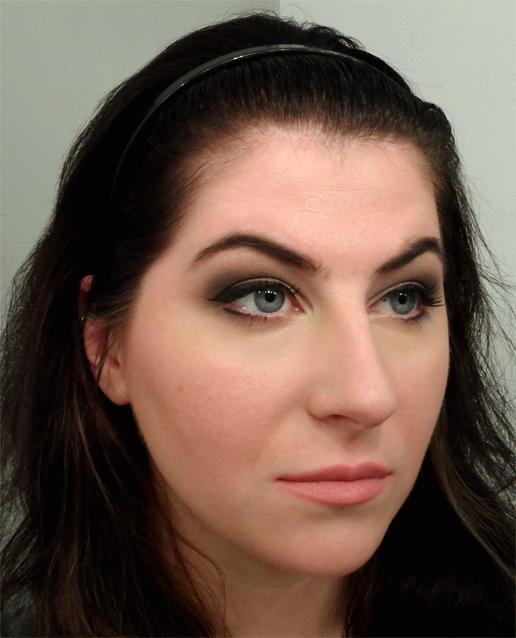 dark neutral smoky eye winged eyeliner natural matte lipstick lips goth makeup