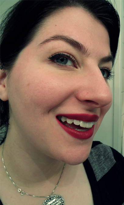 Fuchsia-red Rimmel Lasting Finish Lipstick-Kate Moss Collection Number 09