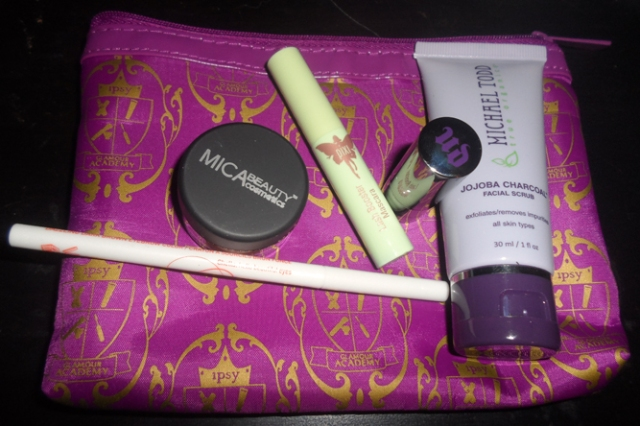 ipsy august 2013 glam bag glamour academy products