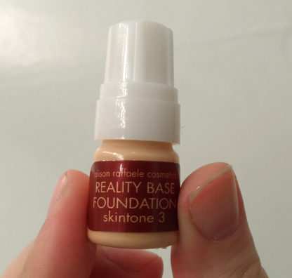 Alison Raffaele Reality Base Foundation skintone 3 sample birchbox