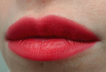 cailyn tinted lip balm big apple red lipstick swatch