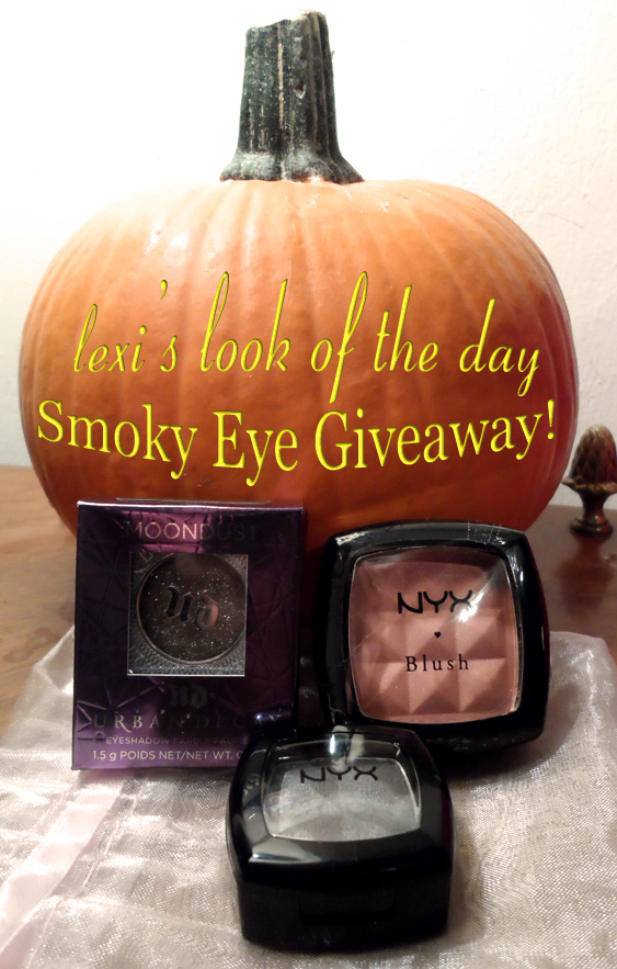 lexis look of the day spooky sparkly smoky eye set giveaway