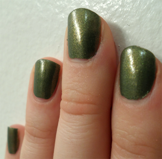 ruffian nail laquer hedge fund dark moss green polish swatch