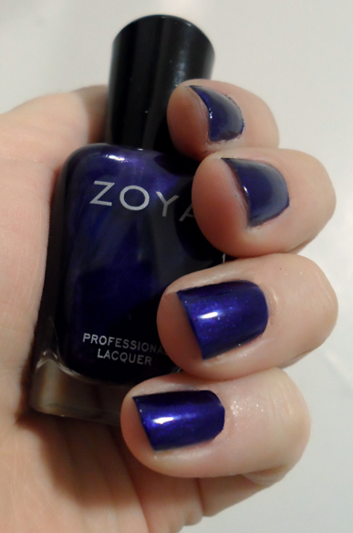zoya neve fall 2013 chashmeres and satin collection royal navy blue nailpolish