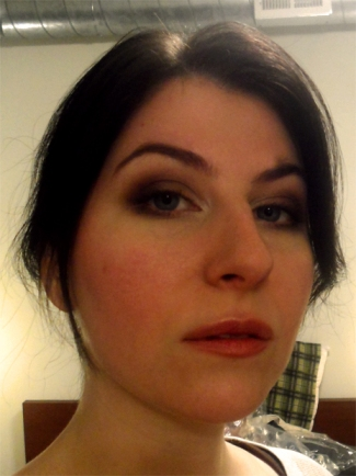 brown plum smoky eye nyx love in paris Je Ne Sais Quoi sheer laura mercier stick gloss peony