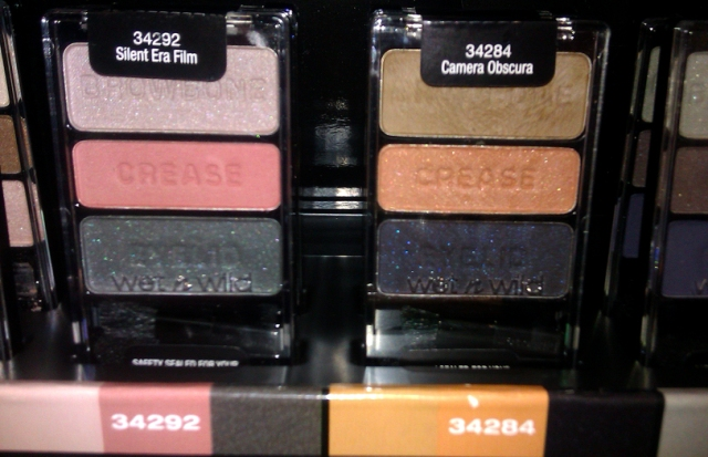 wet and wild Camera Obscura Silent Film Era Color Icon trio eyeshadows