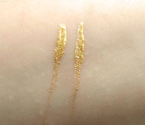 Jane Cosmetics Water-Resistant Liquid Eyeliner 14KT Gold swatch