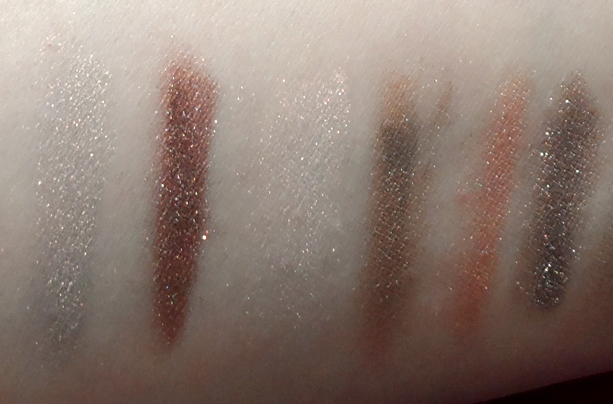 silk naturals cosmetics eyeshadow swatches