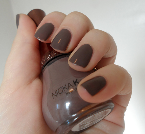 nicka k new york nail laquer classic taupe greige polish