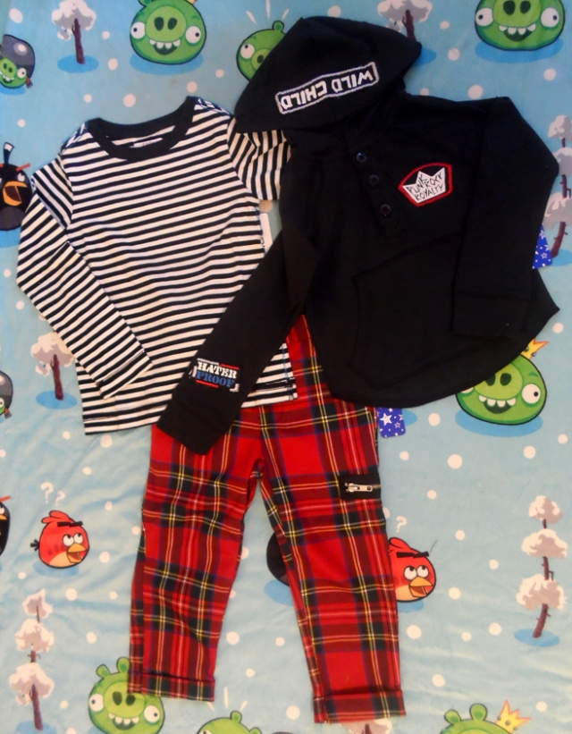 striped shirt plaid punk pants fabkids boy clothes