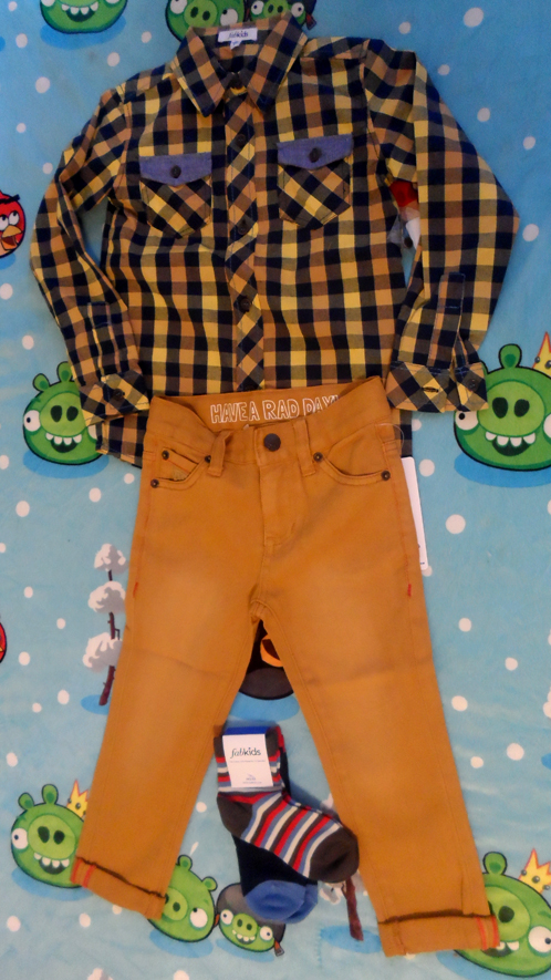 yellow buffalo check plaid shirt goldenrod colored jeans fabkids boys outfits