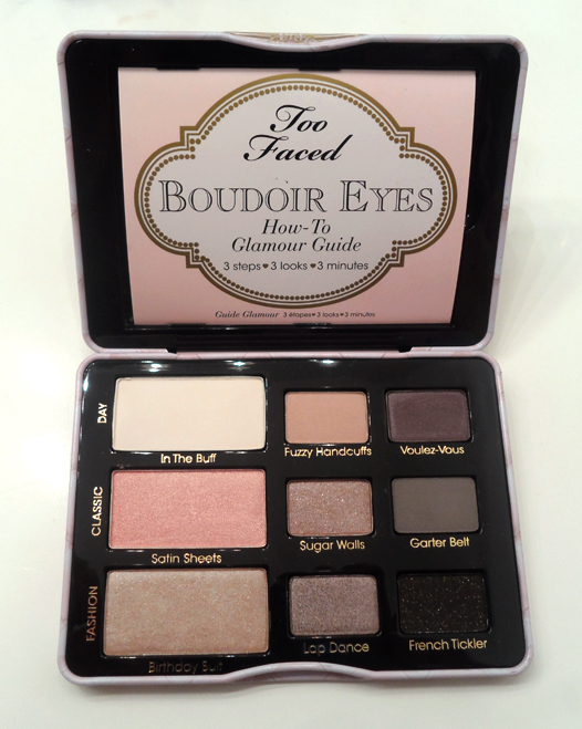too faced boudoir eyes palette shades