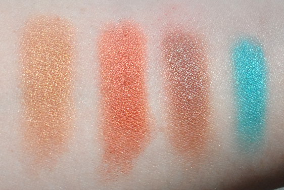 be a bombshell eyeshadow quad bora bora swatches
