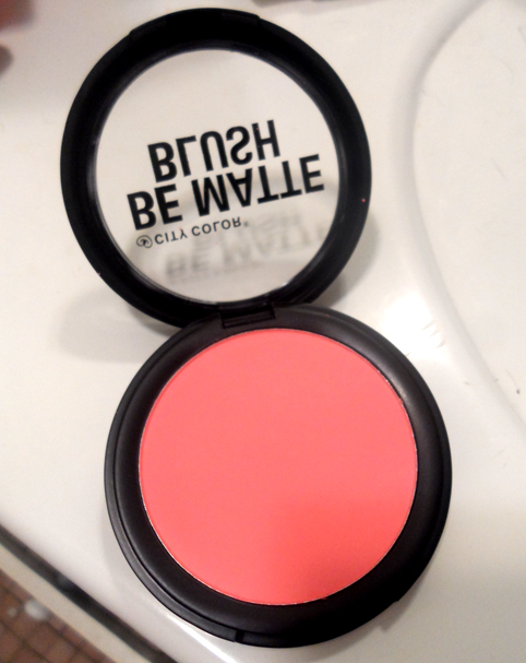 City Color Be Matte Blush in Fresh Melon
