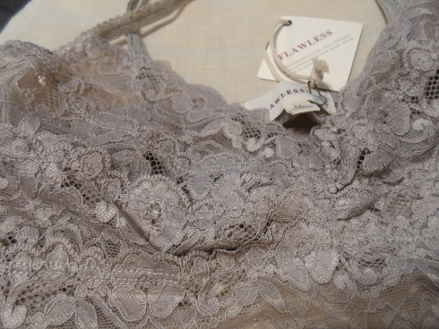 flawless taupe grey bralette lace closeup