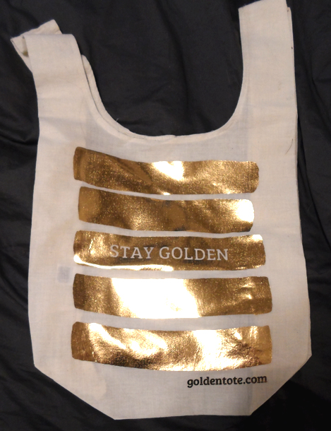 golden tote bag march 2014