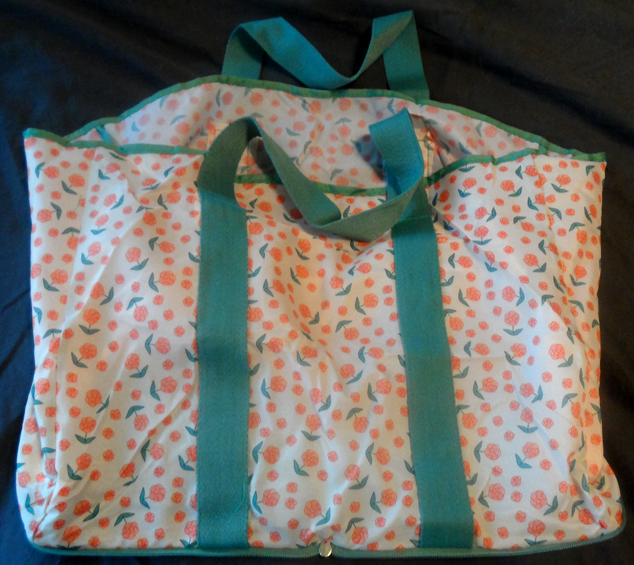 Blue Avocado Shopper Tote Bag full size unzipped