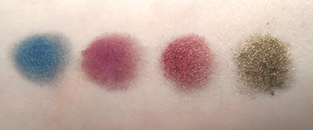 meow cosmetics eyeshadow melpomene depravity kisses plague swatched