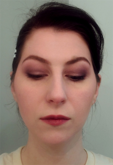 radiant orchid purple smoky eye makeup