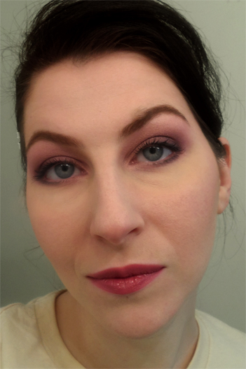 radiant orchid smoky plum makeup