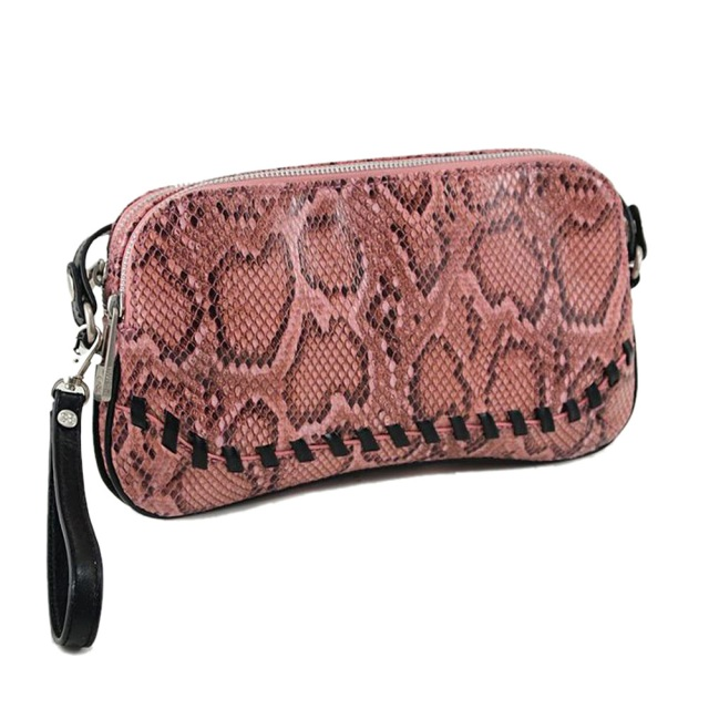33rd & Mad by Koret Rose Python Power Convertible Clutch MSRP $78