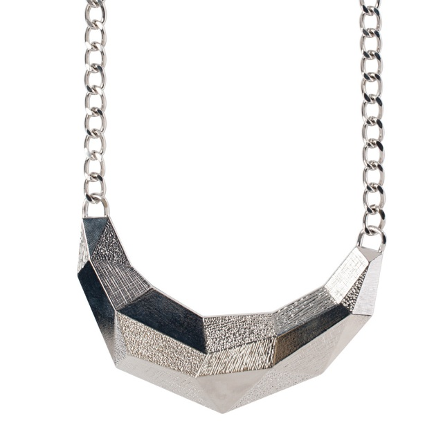 Punch SIlver Geometric necklace MSRP $30