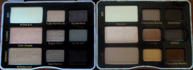 too faced natural eye palette vs boudoir eyes palettes