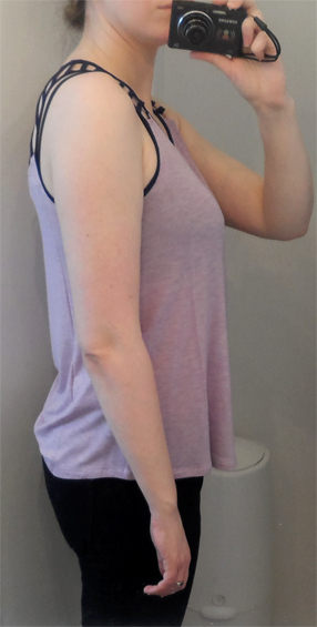 naked zebra strappy tank top lavender and navy