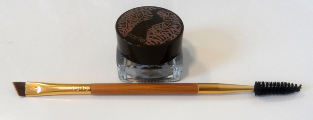 Tarte Amazonian Clay Waterproof Brow Mousse in Medium Brown with double ended spoolie brush
