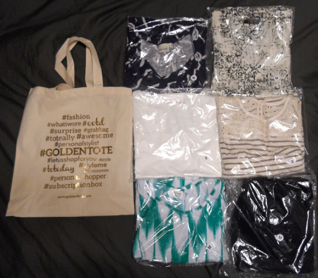 june 2014 golden tote items