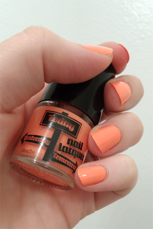korean makeup pale tangerine orange dearberry today nail polish